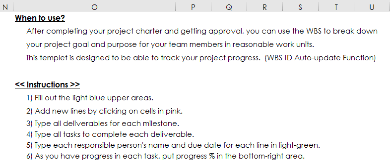 How To Write A Wbs Work Breakdown Structure Excel Template
