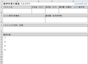 標準作業手順書テンプレートブランク