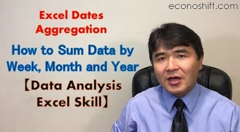 Excel: How to Sum Dates by Week, Month and Year【Data Analysis Excel Skill】