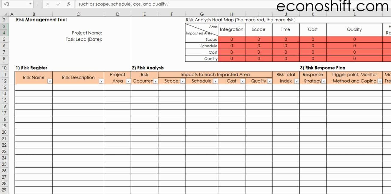Pm Templates For Excel