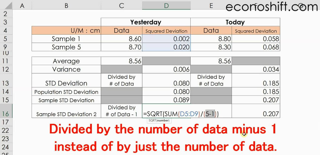 What is Standard Deviation? There are too many Excel functions for that!