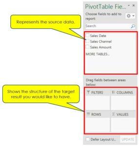 Pivot Table's Field List