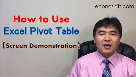 How to Use an Excel Pivot Table 【Screen Demonstration】