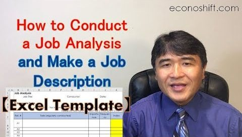 how to conduct a job analysis and make a job description excel