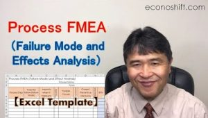 Process FMEA (Failure Mode and Effects Analysis)【Excel Template】