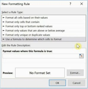 Conditional Formatting with Formula