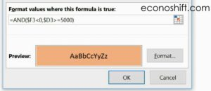 Multiple Condition Formula Example