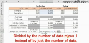 How to calculate Sample Std Deviation