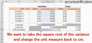 How to calculate Std Deviation