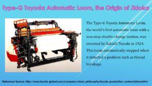 Type-G Toyota Automatic Loom, the Origin of Jidoka