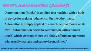 What's Jidoka (Autonomation)