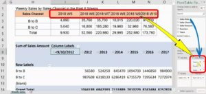 Pivot Table's Field List's Columns Area