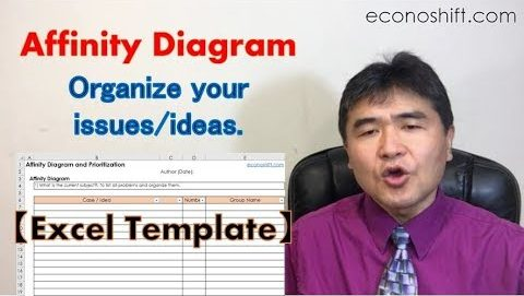 Use an Affinity Diagram to organize your issues/ideas.【Excel Template】