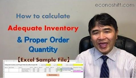 How to calculate an adequate inventory and proper order quantity
