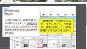 トヨタの「標準作業の設定」のページ