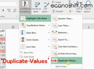 Conditional Formatting Duplicate Values