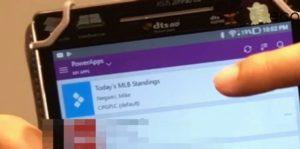 PowerApps Menu Screen in Eng