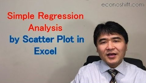 Simple Regression Analysis by Scatter Plot in Excel