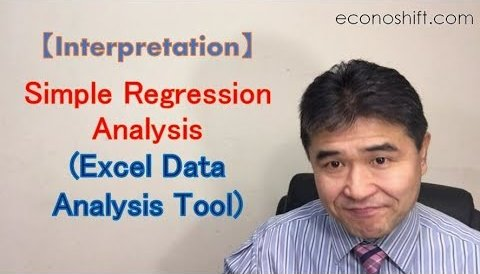 Simple Regression Analysis Interpretation (Excel Data Analysis Tools)