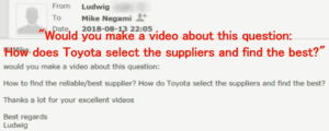 Toyota Purchasing Video Request