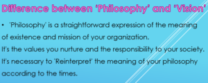 Difference between Philosophy and Vision