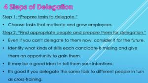 The 4 Steps of Delegation 1