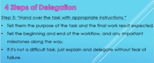 The 4 Steps of Delegation 2