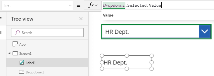 PowerApps】How to use a Drop down Control and the difference from a