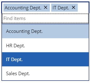 PowerApps Combo box List Example