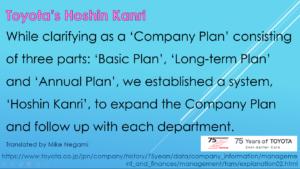 Toyota's Hoshin Kanri Explanation