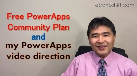Free PowerApps Community Plan and my PowerApps video direction
