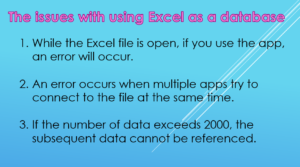 The issues with using Excel as a database