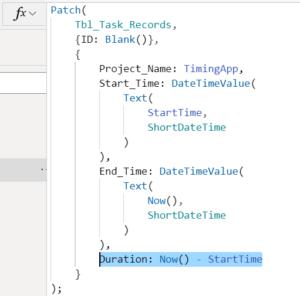 作業時間記録アプリ Patch関数